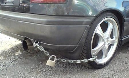 security lock system for car