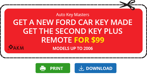 coupon key plus remote for 99$ ford car keys