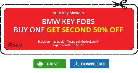 Locksmith coupon BMW 50% off