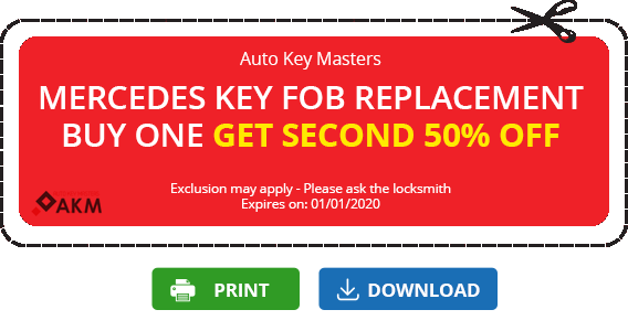 coupon key Mercedes 50% off